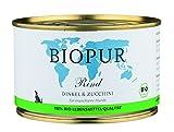 Biopur Bio Hundefutter Rind, Dinkel, Zucchini 400 g, 12er Pack (12 x 400 g)