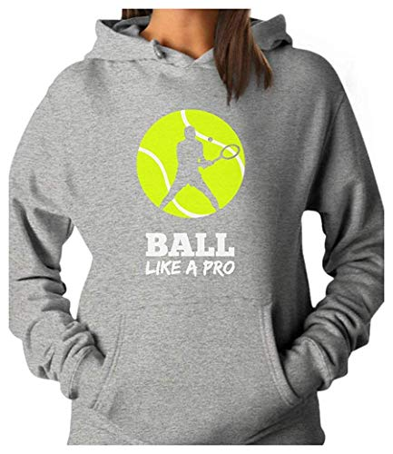 Tennis Player Ball Like a Pro Gift for Tennis Lovers Women Hoodie