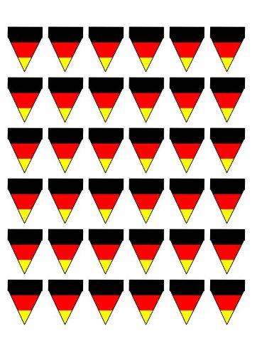Flaggen Bunting (36 Deutsche Flagge essbare bunting)