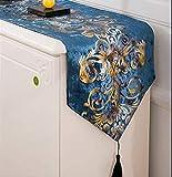 FHFF Tischdecke, europäische Luxus-Vergoldung, bestickt,