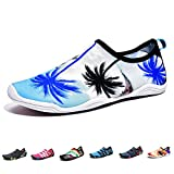 Barefoot Water Shoes Mens Womens Quick Dry Unisex Sports Aqua Shoes Lightweight Durable Sole for Beach Pool Sand Swim Surf Yoga Water Exercise (10.5UK/45EU, Style 7)