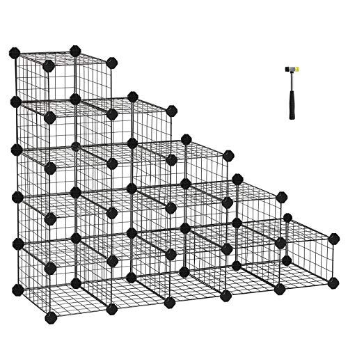 Würfelregal 16 Fächer Modulregal Stecksystem Gitterregal DIY Metallregal