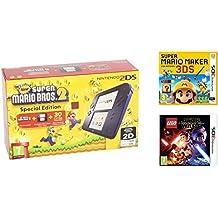 Consola Nintendo 2DS Azul + New Super Mario Bros 2 + Super Mario Maker + LEGO Star Wars: El Despertar De La Fuerza