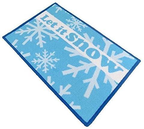 Christmas Let It Snow Flocon de neige pour enfant Kiddies fantaisie souple Tapis de tapis Bleu 40x 60cm–38,1x 58,4cm