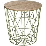 """Paris Prix - Table d'Appoint Design """"Kumi"""" 41cm Vert"""