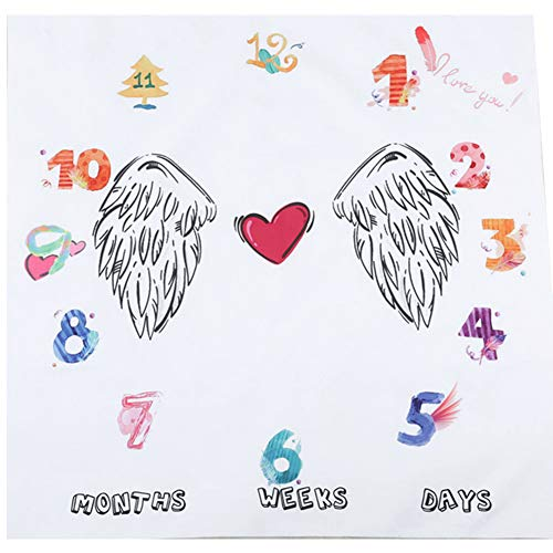 Ndier Baby Monatsdecke Extra Soft Cotton Decke Angel Wings Muster-Baby-Fotografie Props Kulisse Teppiche für Baby Boy