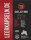 2000 Leerkapseln | Größe 0 | Gelatine [RIND] | verbundene Kapselhälften | Halal & Kocher zertifiziert | | transparente leere ganze Kapseln (2000)