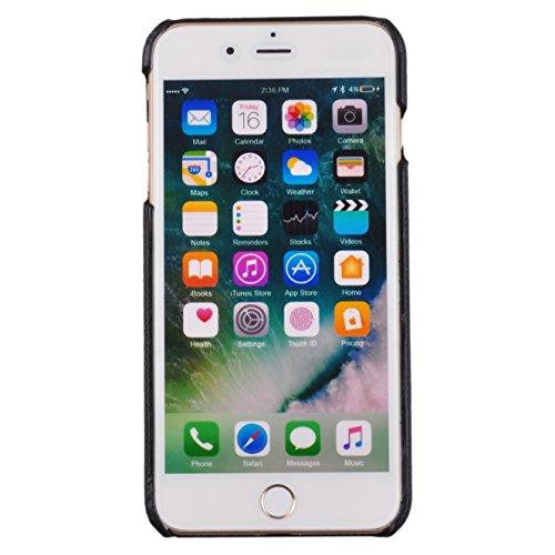 Voguecase® Pour Apple iPhone 7 4,7, Rigide Plastique Shell Housse Coque Étui Case Cover(en bois motif-Marron clair)de Gratuit stylet l'écran aléatoire universelle Bling-Noir