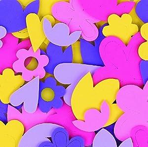 CI l-fv8760Espuma Corazones y Flores Formas Adhesivo (60Piezas)