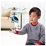 Mini Induction Helicopter, Fuibo Flying Mini RC Infraed Induction Helicopter Aircraft Flashing Light Toys For Kid (blue)