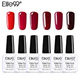 Elite99 Esmalte Semipermanente Esmalte de Uñas Gel UV LED Color Rojo...
