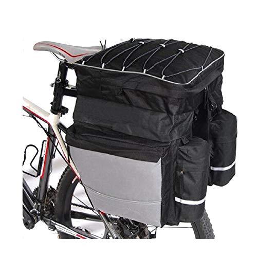FDSEQ Fahrrad Hinteres Regalpaket Mountainbike DREI-in-Eins-Tasche Einzelner Fahrradrucksack Doppeltasche Satteltasche