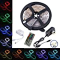 led strip,topmax,5050 led strip lights,RGB led strips lighting full kit +44 key IR remote+12V UK charger (built-in IC and fuse)Power Supply