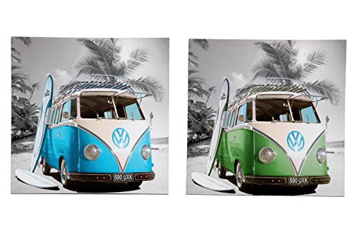 Set de 2 Cuadros Surfing Van 40x40 cm