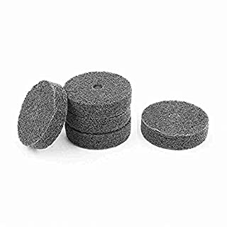 Move&Moving(TM) 75mm x 20mm Black Nylon Abrasive Polishing Buffing Wheel 5 Pcs