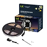 LE LED Flexible Strip Lights Kit,300 Units SMD 3528 LEDs Daylight White,5m 12V DC Non-waterproof Light Strips, LED ribbon,Garden/Home/Kitchen/Car/Bar, DIY Party Decoration Lighting