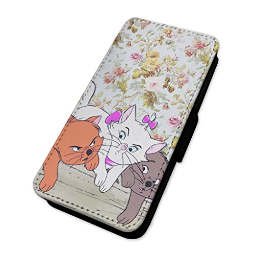 gattini adorabile floreale–Aristocats–Flip cover in pelle copertura di carta Apple Iphone 7 Plus