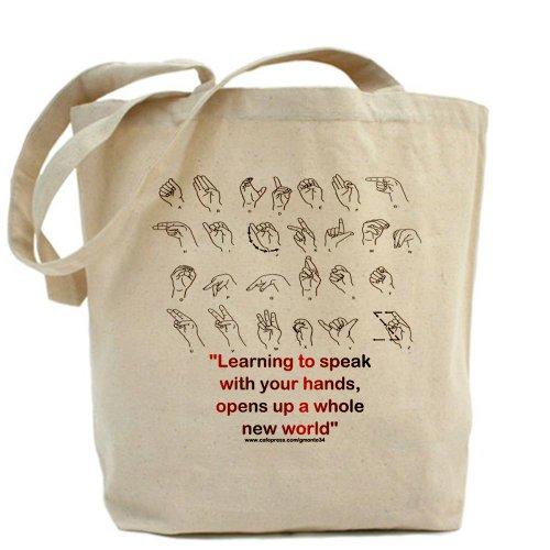 CafePress-Gebärdensprache-Leinwand Natur Tasche, Reinigungstuch Einkaufstasche