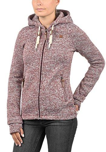 DESIRES Thory Damen Fleecejacke Sweatjacke Jacke Mit Kapuze Und Daumenlöcher, Größe:M, Farbe:Wine Red (0985) - 2