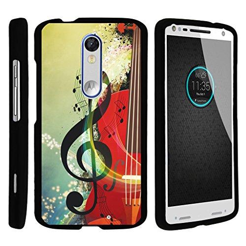 turtlearmor   Motorola Droid Turbo 2Fall   Moto X Force Fall   Kinzie [Slim Duo] Slim Fit Compact Hartschale Protector Schutzhülle Zum Aufstecken auf Schwarz Musik Design -, Music Symbol Note (Note Handy-fällen T-mobile 2)