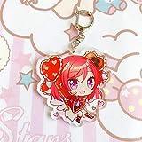 yuehuxin Anime LoveLive! Sunshine Aqours - Llavero de Goma con Correas Raras para Cosplay, acrílico, H01