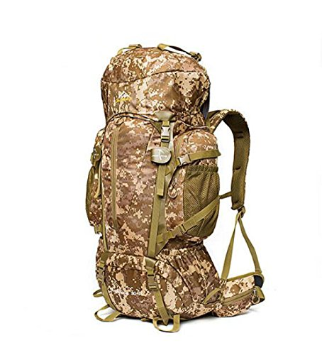 Outdoor Impermeabile Camuffamento Zaino Viaggi Escursionismo Borsa Grande Capacità,Jungle-camouflage Grey-camouflage