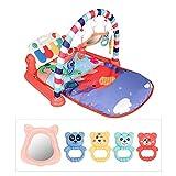 DEQUATE 3 In 1 Baby Game Pad - Baby Fitness Matte Mit Spielmöglichkeiten, Musik Und Beleuchtung Piano, Kriechende Matte Kinder Spielen Matte Für 3-12 Monate Kinder