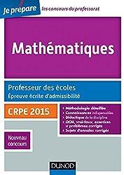 Mathématiques. Professeur des écoles. Ecrit admissibilité - 2015 (Concours enseignement)