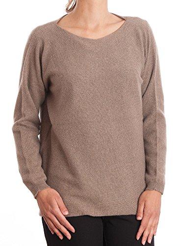 Dalle Piane Cashmere - Maxi Pullover 100% Kaschmir - für Frau, Farbe: Nerz, Einheitsgröße