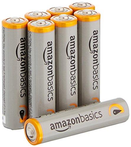AmazonBasics Performance Batterien Alkali, AAA, 8 Stück (Design kann von Darstellung abweichen)