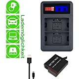 LOOkit pour GoPro Hero5 / LCD 2 Kanal Chargeur + 1x LOOKit® Batterie 1220mAh Attention: compatible pour Firmware 1.2! Non 1.55 !