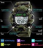 Orologi digitali per bambini, ragazzi sportivi Orologi militari con sveglia / timer, Bambini ragazzo 5 orologi impermeabili Orologio mimetico portatile per adolescenti ragazzi by BHGWR