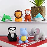 #4: 6 PCS Japanese Animal Erasers for kids Assorted Set Adorable Cute Animals Toys Educational Gift Party Favors for Boys Girls Childrens