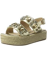 Xti Gold Metallic Ladies Sandals ., chaussures compensées femme