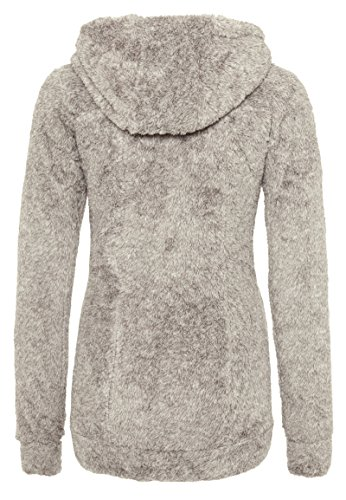 SUBLEVEL Damen Teddy-Fleece Mantel | Kuscheliger Langer Fleecemantel mit hohem Kragen Light-Brown