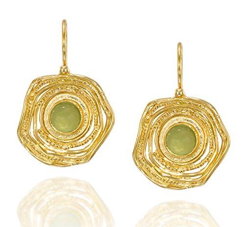 kräftigen 14K vergoldet Silber Tropfen Ohrringe mit einzigartige Texturierte freie Form Design und sicherer Rücken (14k Gold Vergoldet Ohrringe)