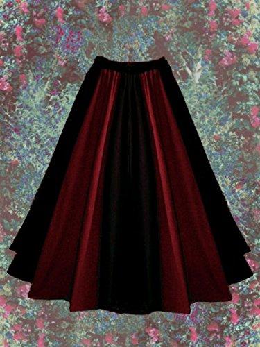 Dark Dreams Gothic Mittelalter LARP Rock Luana zweifarbig, Farbe:schwarz/rot, Größe:freesize - 2