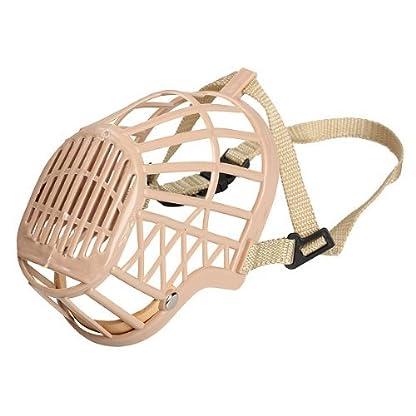 TOOGOO(R) Plastic Basket Adjustable Dog Muzzle Mask Cage Mouth Mesh (Size 5) 3
