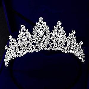 Ferrell Vintage Braut Crown Frauen Hohlen Kopfschmuck glänzende Prom Hochzeit Krone Strass Dekor