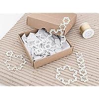 Geometrische Anhänger für Weihnachtsbaum Schneeflocken 3D gedruckt weiß (Set Nr. 1) - minimale Ornamente Weihnachtsbaum Christbaum Deko skandinavisch