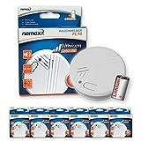 6x Nemaxx FL10 Rauchmelder - hochwertiger Rauchwarnmelder mit langlebiger 10 Jahre Lithium-Batterie - nach DIN EN 14604