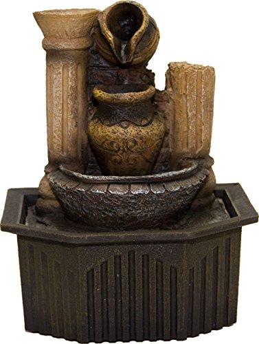 Zimmerbrunnen mit Pumpe, 6 Motive, Dekobrunnen, Wasserspiel