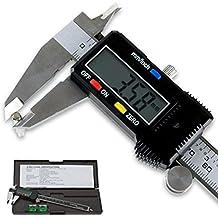 LUPO® Calibrador Digital – Herramienta de Medición Micrométrica Electrónica Vernier – Plantalla LCD de Precisión con Estuche Rígido