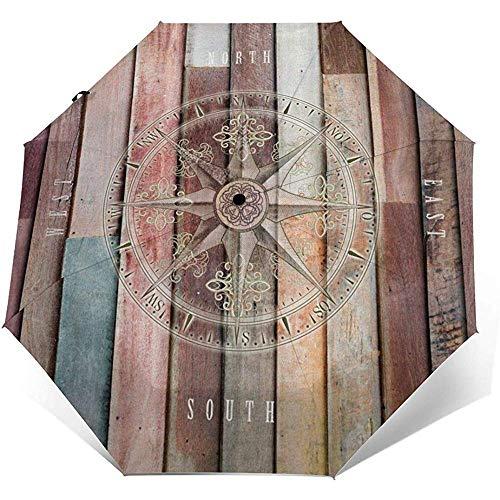 Ruder wie Kompass-Reiseschirm-Sonnenschirm-Leichtgewichtler winddichter Sonnenschutzschirm-Selbstöffnender und schließender Knopf