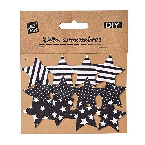TE-DecoArt 12 Stück DIY Textil Patch Aufbügler Aufbügelflicken Applikation Stern zum Selber Flicken Stylen Dekorieren ca. 5 x 5 cm