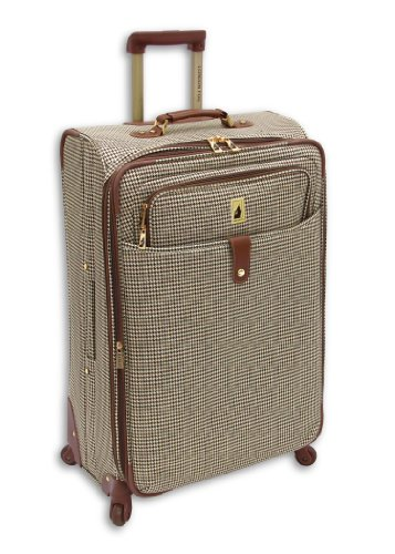 london-fog-luggage-chelsea-25-inch-360-expandable-upright-suiter-olive-plaid-one-size