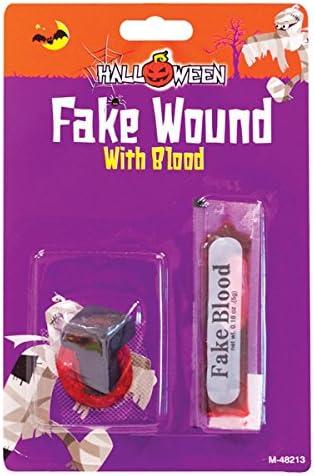 Gorey faux ongles avec avec avec tête de blessure réaliste faux sang pour maquillage Halloween b32402
