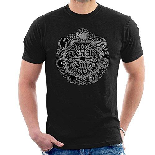 Cloud City 7 Seven Deadly Sins Shield Men's T-Shirt