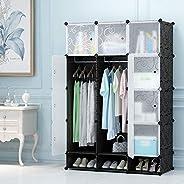 12 Cube Storage Organizer With shoe rack Closet Portable Wardrobe Combination, Modular Cabinet for Space Savin