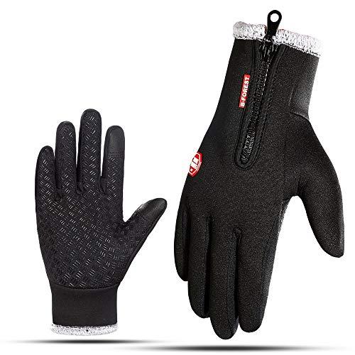 Winterwarme Handschuhe, Touchscreen-Handschuhe Kaltes Wetter Fahrradhandschuhe Windundurchlässige Wintersporthandschuhe zum Laufen Radfahren Fahren Klettern Wandern - Männer & Frauen Winddichte Fahrra